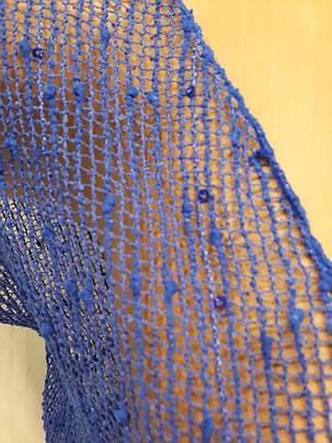 Платье пляжное 301 Грейс синее на наши 42-50 размеры., фото 2