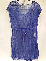 Платье пляжное 301 Грейс синее на наши 42-50 размеры., фото 3