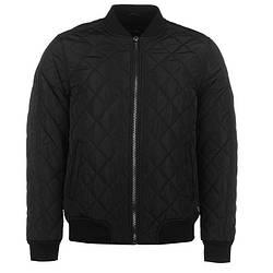 Мужская куртка бомбер Firetrap Quilted Bomber черная оригинал J0001
