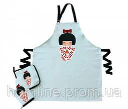 Набор для кухни фартук с прихваткой Barine Little Wagashi