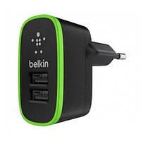 Сетевое зарядное устройство Belkin на два USB 2.1A/10 Ватт  F8M670krBLK - Черный