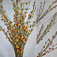 Цветы искусственный веточка с ягодами и стекл.лист.
