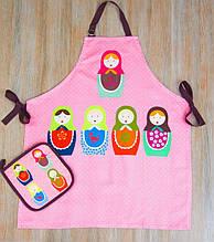 Набор для кухни фартук с прихваткой Barine Nesting doll