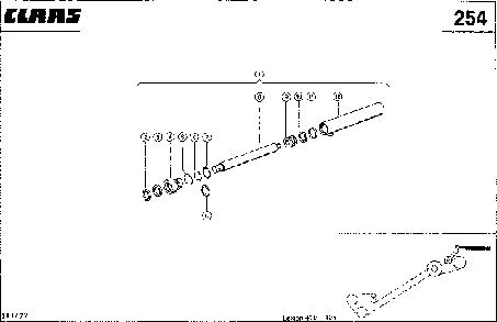 ГИДРОЦИЛИНДР, РАЗГРУЗКА БЕНКЕРА - CLAAS LEX 410-405