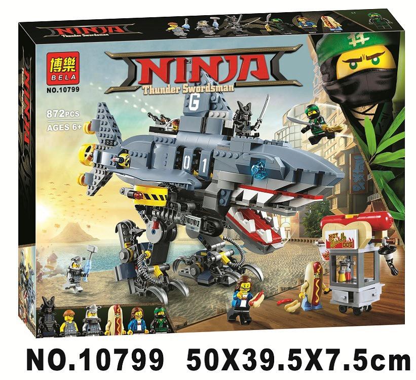 Конструктор Bela 10799 Ninjago Movie ниндзяго муви Гармадон 872 детали