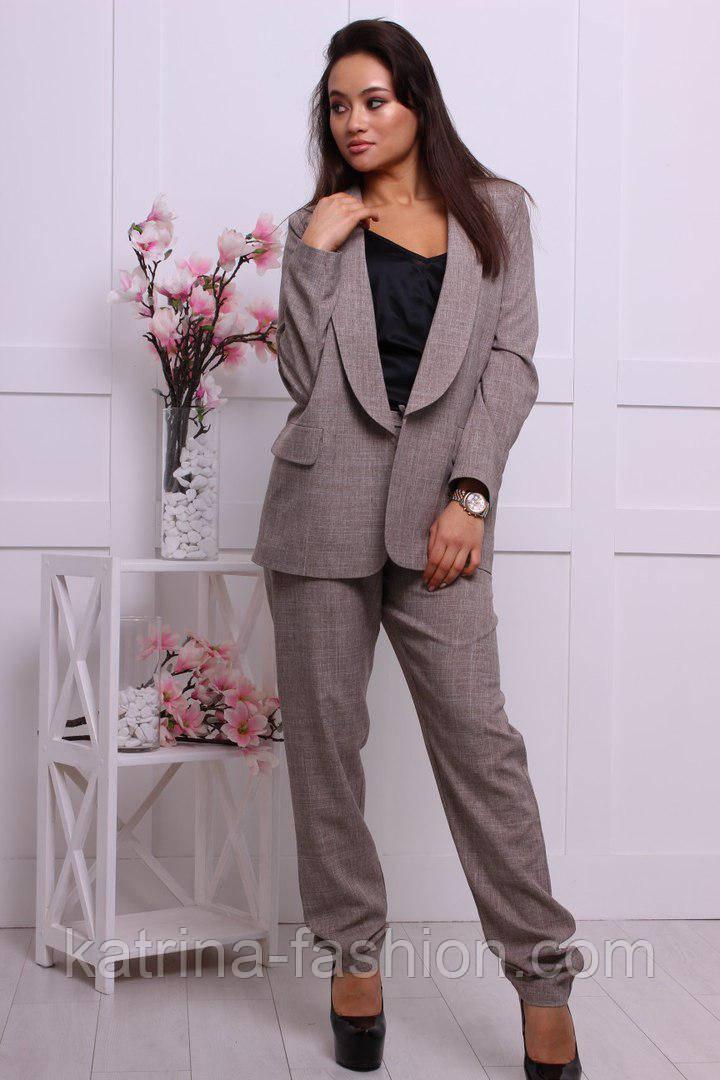 Женский стильный брючный костюм: пиджак и брюки (2 цвета)