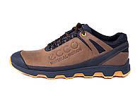 Мужские кожаные кроссовки Ecco Natural Motion olive (реплика), фото 1
