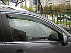 Дефлекторы окон ветровики на VOLKSWAGEN Фольксваген VW AMAROK 2009- темн., фото 2
