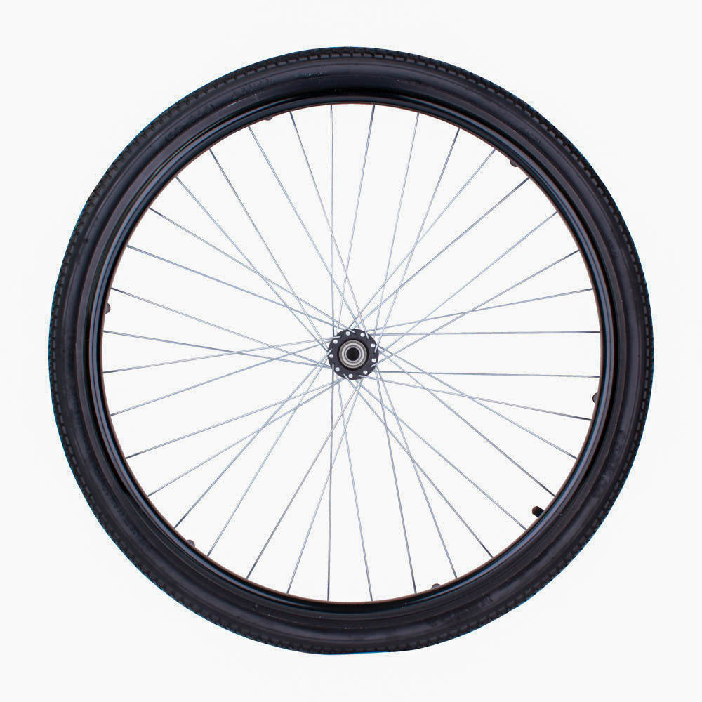 """24"""" x 1⅜"""" заднее литое колесо для инвалидных колясок"""