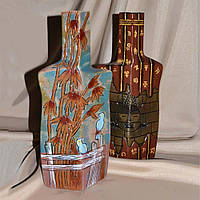 Ваза керамическая Граненая бутылка 31см