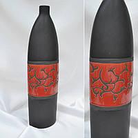 Ваза керамическая черный красная с рисунком 47см