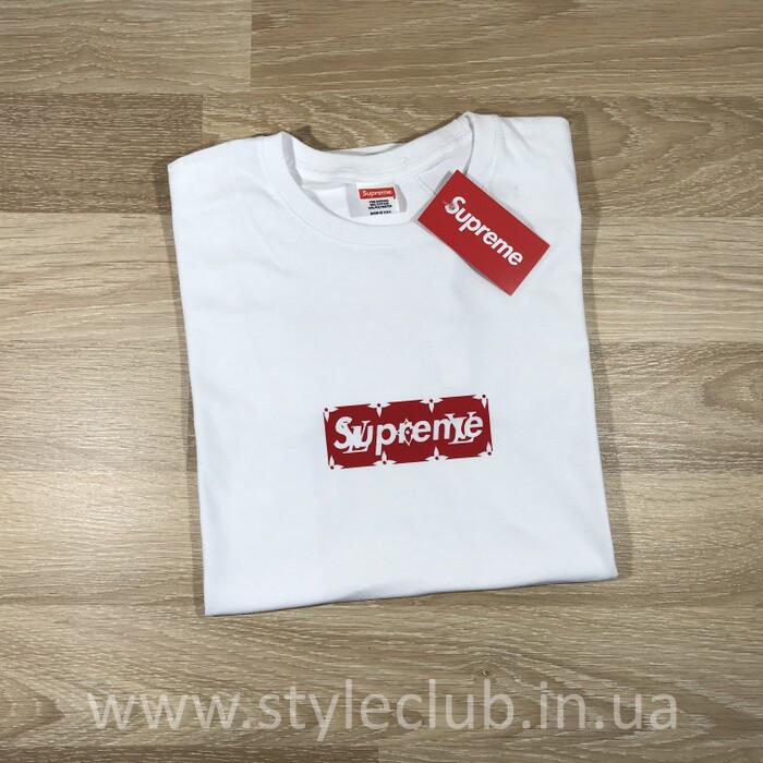 Футболка Supreme Louis Vuitton   Бирка Ориг.   Наши Реальные Фотки ... 688f912e49a