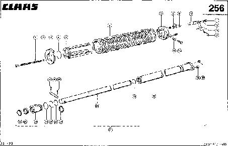 ЦИЛИНДР ЖАТКИ - CLAAS LEX 410-405