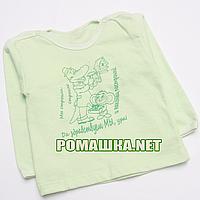 Детский реглан р. 74 для мальчика тонкий ткань КУЛИР 100% хлопок ТМ Авекс 4027 Зеленый