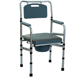 Складной стул-туалет с мягким сиденьем OSD-LY901