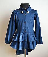 Нарядная детская рубашка для девочки 146 размер