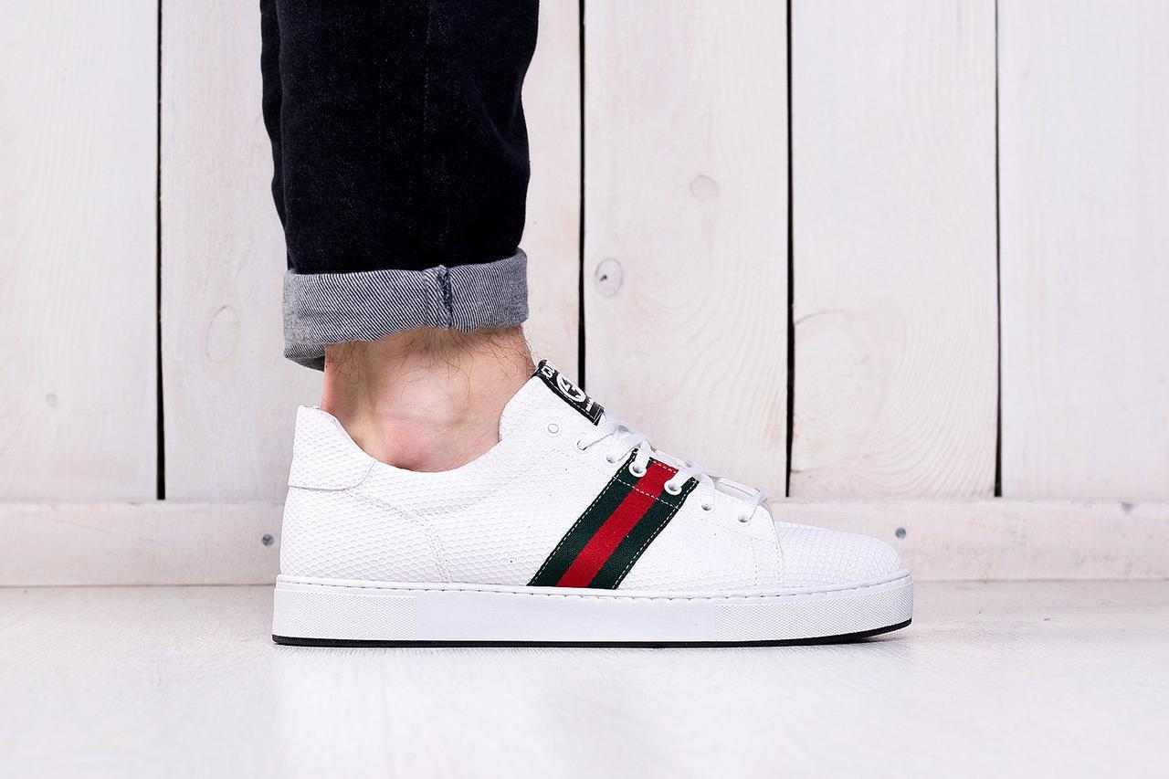 Мужские кеды Gucci Ace Embroidered Sneaker Black, Копия