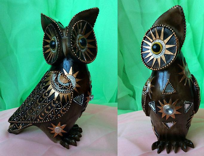 Денежная сова фэн - шуй, символ мудрости и благополучия, высота 16 см.