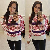Женский свитер плотной вязки