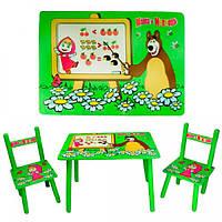 Детский набор BAMBI M 0295 Маша и Мишка с двумя стульчиками