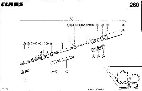 HYDRAULIKZYLINDER; KORBVERSTELLUNG, REC - CLAAS LEX 410-405