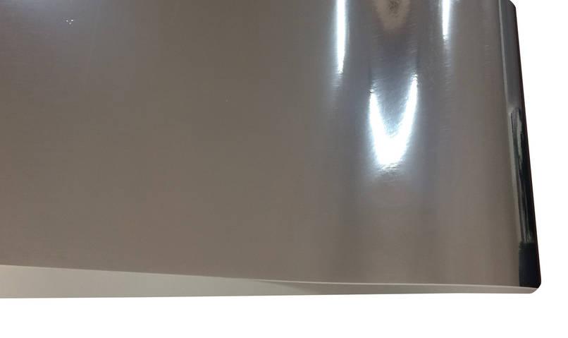 Дизайнерский картон Silver mirror, гладкий серебро, 255 гр/м2