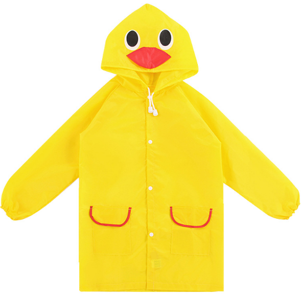 Дождевик детский Уточка Желтый 110-120 см (06005)