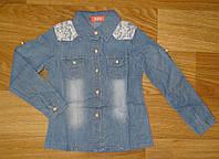 Джинсовые рубашки для девочек оптом, S&D, 86-110 рр., арт. KK-G059