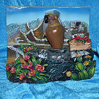 Фонтан лягушка под цветком 19см