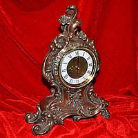 часы настольные цветы латунные 30см