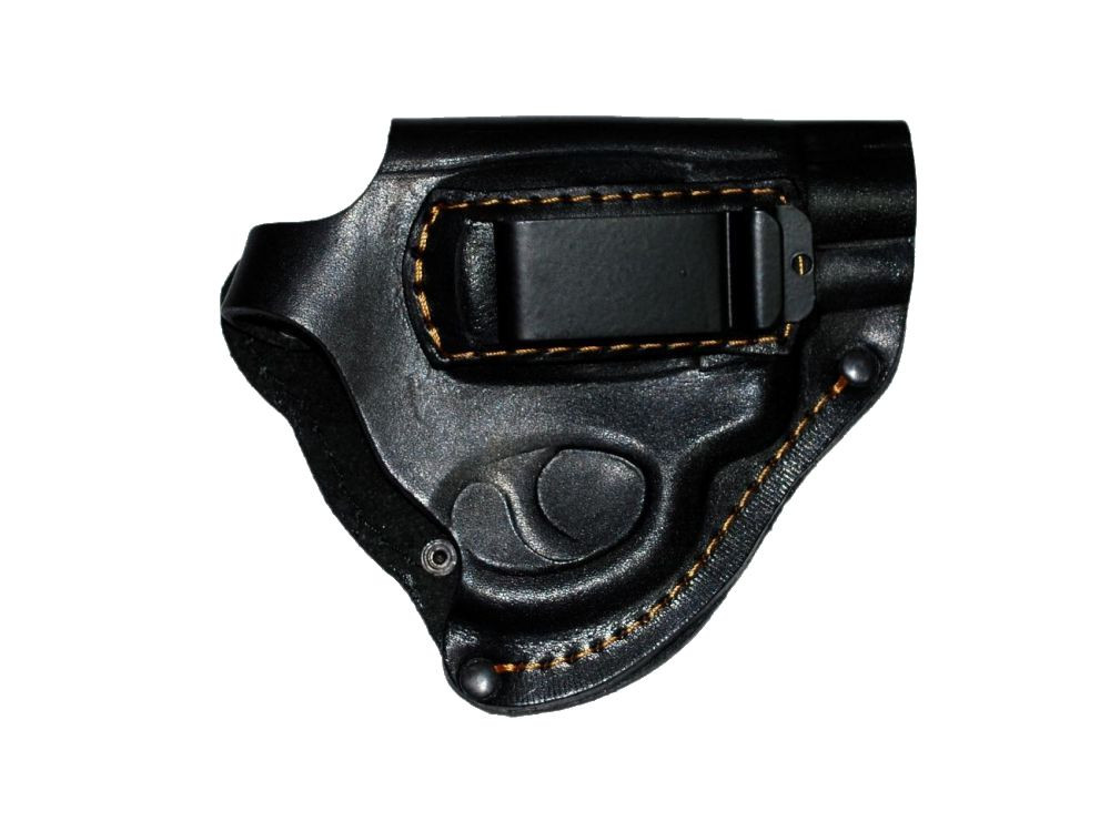 Кобура поясная кожаная для револьвера (со скобой)