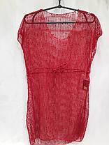 Платье пляжное 301 Грейс бордовый на наши 42-50 размеры., фото 2