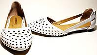Летняя обувь женская - открытые балетки Evromoda