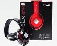 Блютус наушники MonsterBeats STN-16 MP3+FM беспроводные.красный/черный
