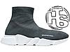 Женские кроссовки реплика Balenciaga Knit High-Top Sneakers Grey/White