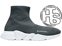 Женские кроссовки Balenciaga Knit High-Top Sneakers Grey/White