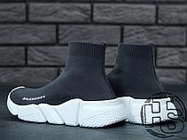 Женские кроссовки реплика Balenciaga Knit High-Top Sneakers Grey/White, фото 2