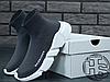Женские кроссовки реплика Balenciaga Knit High-Top Sneakers Grey/White, фото 5