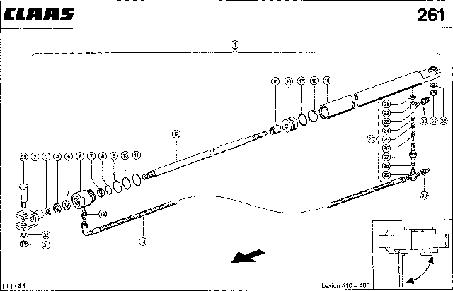 HYDRAULIKZYLINDER; SCHWENKEN KORNT.AUSL - CLAAS LEX 410-405