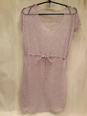 Платье пляжное 301 Грейс сиреневый на наши 42-50 размеры., фото 2