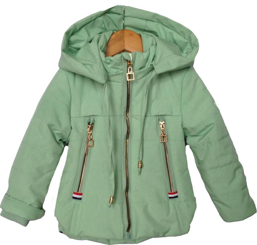 """Куртка детская демисезонная """"Tailang"""" #HL-0801 для девочек.  6 мес-9 мес-1-2-3 года. Мятная. Оптом."""