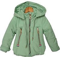 """Куртка детская демисезонная """"Tailang"""" #HL-0801 для девочек.  6 мес-9 мес-1-2-3 года. Мятная. Оптом., фото 1"""