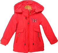 """Куртка детская демисезонная """"БУМ"""" #L-8850 для девочек. 1-2-3-4-5 лет. Красная. Оптом., фото 1"""