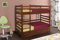 Кровать детская деревянная двухярусная Засоня Микс мебель