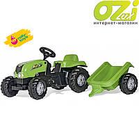 Детский трактор с прицепом Rolly Toys Kid зеленый (012169)