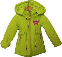 """Куртка детская демисезонная """"БУМ"""" #L-8850 для девочек. 1-2-3-4-5 лет. Салатовая. Оптом., фото 1"""