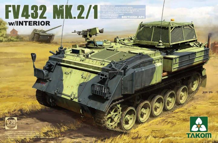 FV432 Mk.2/1 бронетранспортер с интерьером. 1/35 TAKOM 2066