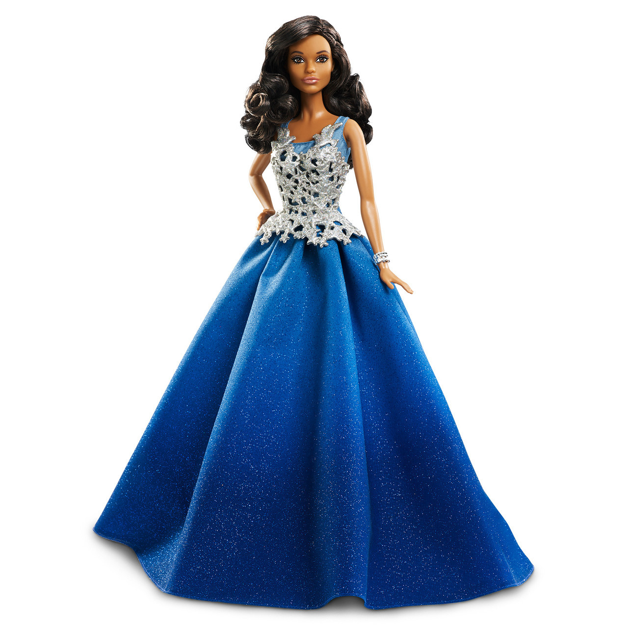 Кукла Барби Barbie коллекционная праздничная коллекция в синем платье Barbie Holiday Doll dgx99