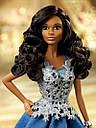 Кукла Барби Barbie коллекционная праздничная коллекция в синем платье Barbie Holiday Doll dgx99, фото 5