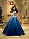 Кукла Барби Barbie коллекционная праздничная коллекция в синем платье Barbie Holiday Doll dgx99, фото 6